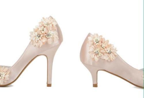 Ροζ σατέν νυφικά παπούτσια 3D λουλούδι παπούτσια Κομψό Γάμος κρυστάλλου νυφικά παπούτσια   eBay