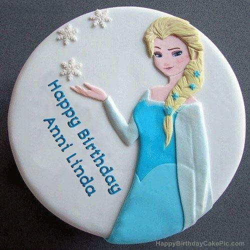 escrever o nome no bolo congelado Elsa aniversário
