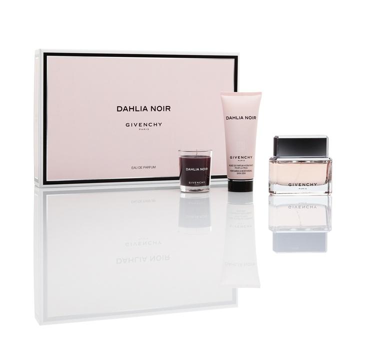 GIVENCHY  Dahlia Noir  Un profumo Couture dalle linee pure, un neoclassico la cui estrema sensualità si basa su un immaginario  inaspettato, un ritorno all'«ultra-lusso».
