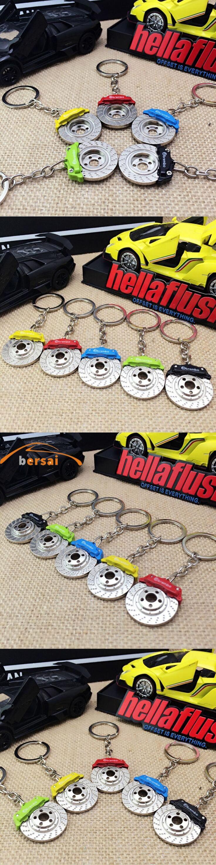 BERSAI 1 piece Alloy Car brake pads shape key ring For TOYOTA Reiz Mazda ATENZA bmW 357 Mercedes-Benz Car styling accessories