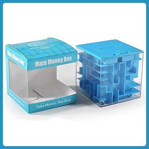 SainSmart Jr. Money Puzzle Box Money Maze Cube Bank, Unique Brain Teaser Puzzles Games for Kids and Adults (Blue)) - Fun stuff and gift ideas (*Amazon Partner-Link)