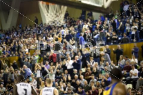 Blurred Background Of Crowd Of People In A Basketball Court Hi Res 73942398 Blurred Background Blur Photo Photo