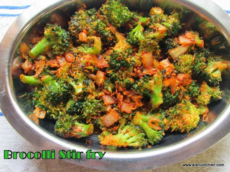 AISHU KITCHEN: Broccoli stir fry / Broccoli poriyal