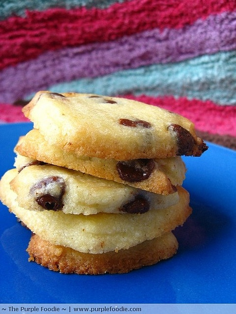 Chocolate Chip Shortbread by The Purple Foodie, via Flickr