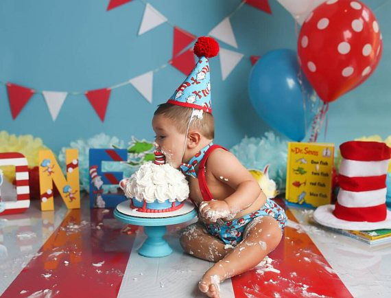 Surprising Boy Cake Smash Outfit Dr Suess Cake Smash Cat In The Hat Cake Personalised Birthday Cards Vishlily Jamesorg