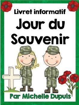 Jour du Souvenir - French Remembrance Day - Ce carnet informatif permettra aux élèves de se familiariser avec les événements entourant cette journée.