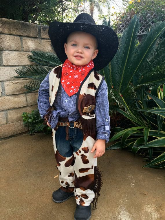 Cowboy Costume Set for Boys-Girls Custom Made Size 2,3,4,5,6,7,8Y
