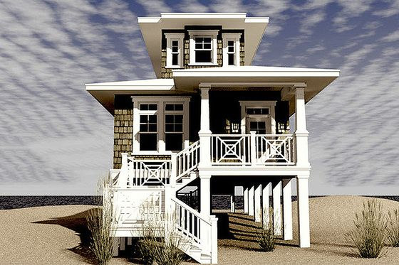 25 best ideas about beach house plans on pinterest for Small coastal home plans