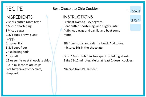 editable recipe card pdf