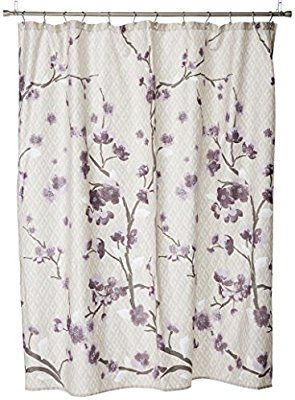 Amazon Holly Modern Cotton Fabric Long Shower Curtain Floral Curtains For Bathroom 72 X Yellow Home Kitchen