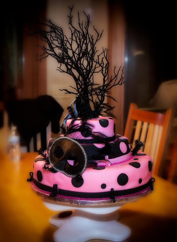 Masquerade Birthday Cake Parties Pinterest Cakes