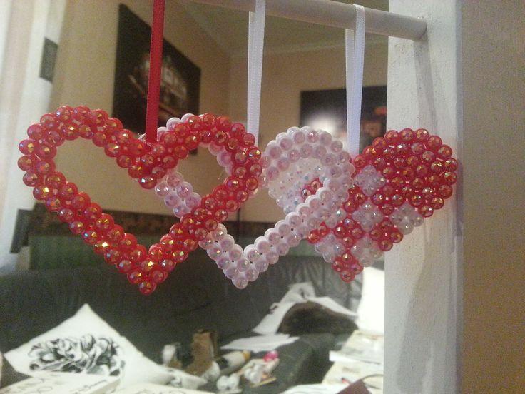 Hama beads with rhinestones  Stine Fagerhaug  http://epla.no/shops/bollaboll/