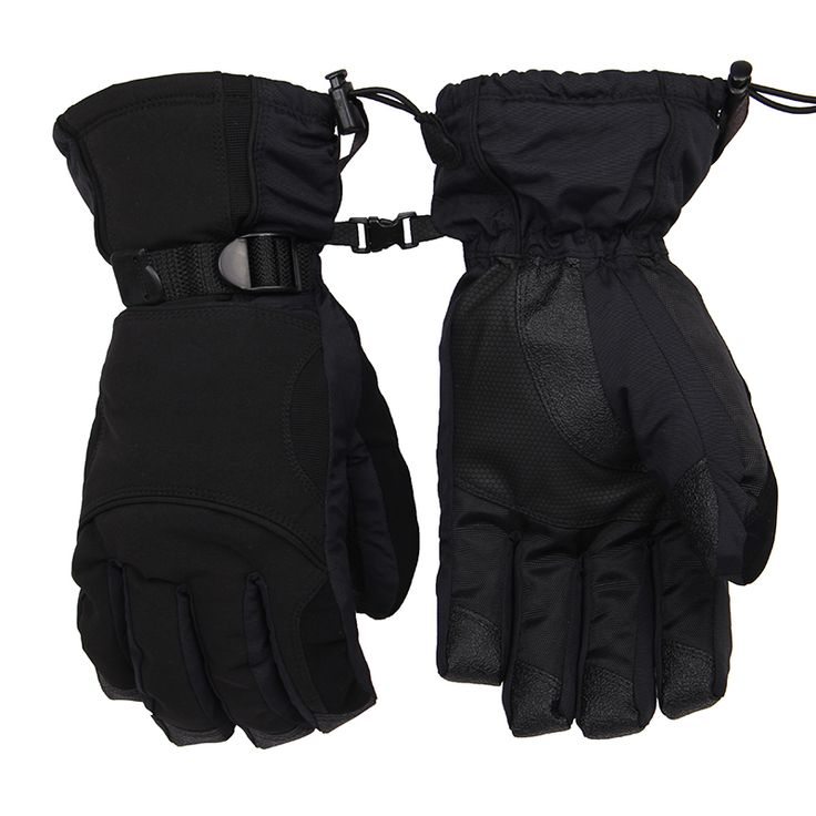 New Winter Outdoor Sport Ski Snow Waterproof Double Gloves Black -30 Degree Fleece Warm Glove Snowboard Motorcycle Riding Gloves