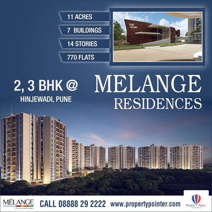 Melange Residences Hinjewadi Pune is one of the top projects which are noted for the built quality and the consistency that the builders of the project maintain about their work. Melange Residences Hinjewadi Pune can consider this project when they are looking for flats and apartments in the city of Pune. Melange Residences Hinjewadi Pune by Rama Group offers 2, 3 BHK Apartments with all modern facilities.