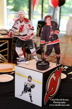 Sports Themed Centerpieces - Hockey Themed Centerpiece