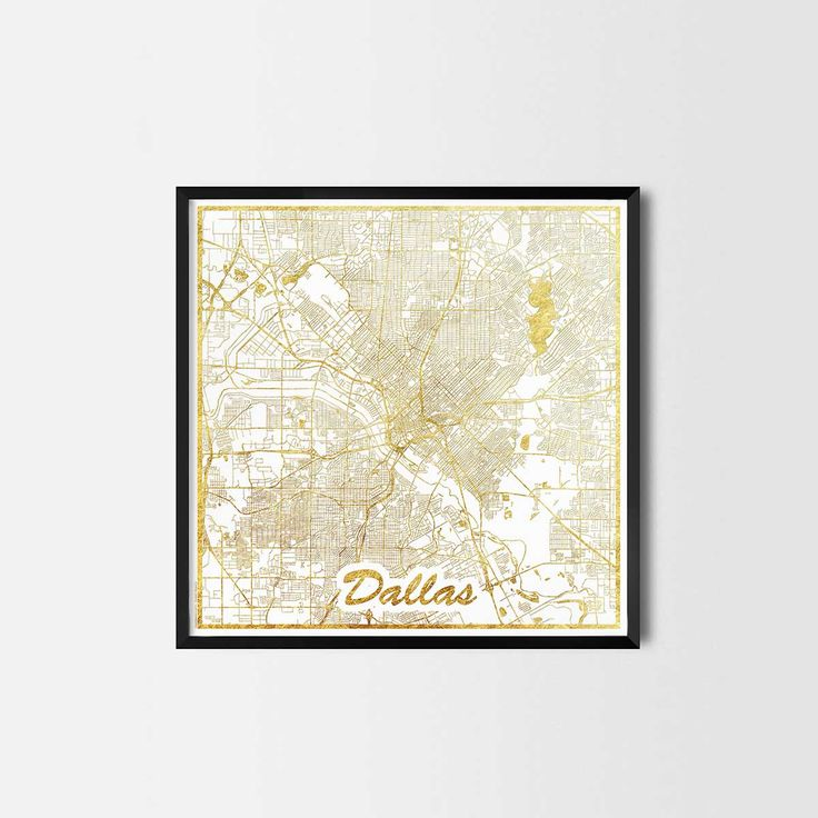 Dallas map posters are high quality map art prints of a great city. Perfect for the house and office or as a gift for a friend. Interior gift travel