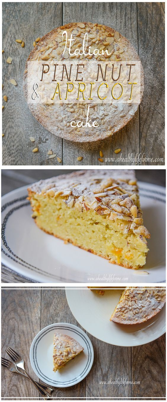 Italian Pine Nut and Apricot Cake is a delicious easy to prepare gluten free cake that tastes like it is from an Italian bakery - A Healthy Life For Me
