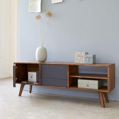 Vente meuble pour TV vintage - Meubles en palissandre Niels - Tikamoon