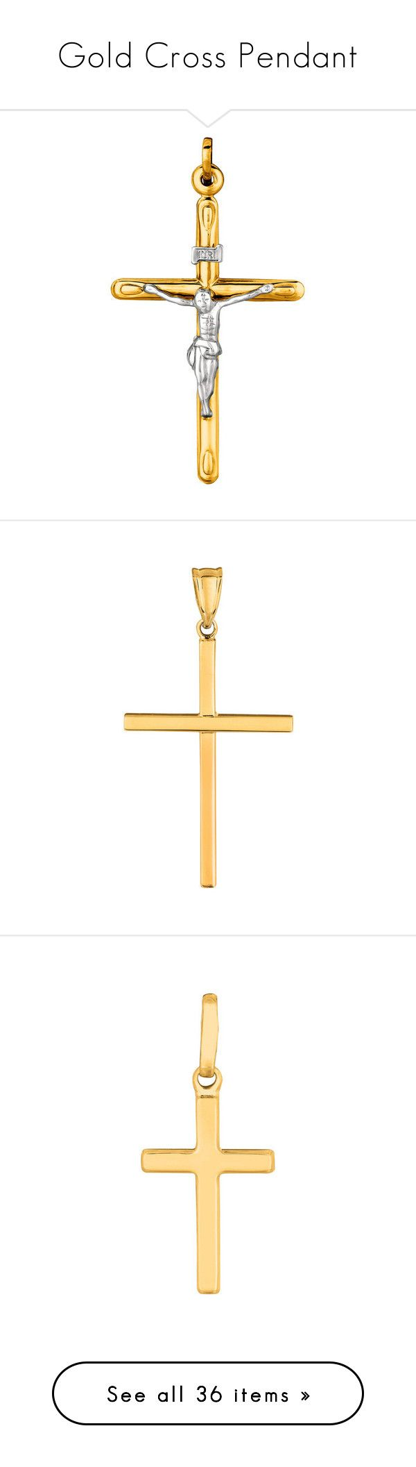 """Gold Cross Pendant"" by jewelryaffairs ❤ liked on Polyvore featuring cross, crosspendant, goldcross, jewelry, round gold pendant, 14 karat gold pendants, 14k jewelry, yellow gold jewelry, gold pendant jewelry and pendants"