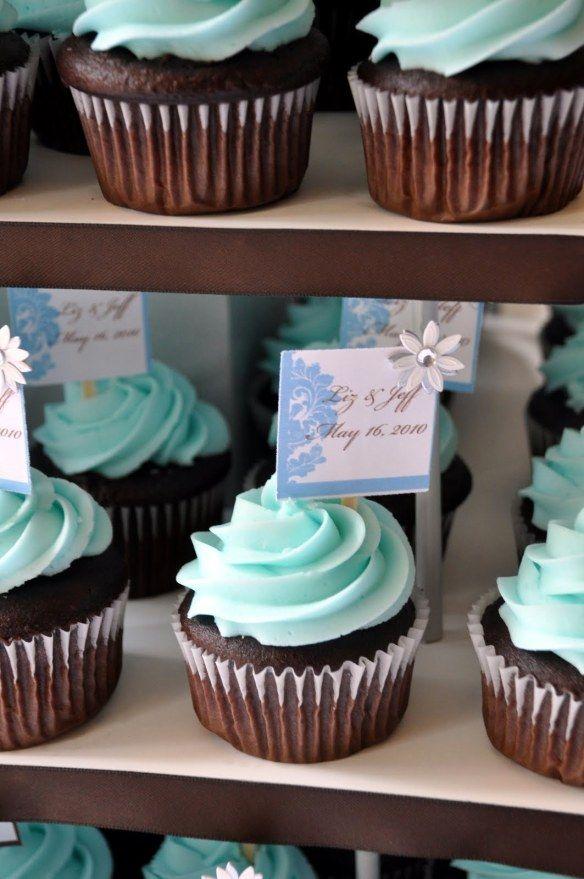 tiffany blue wedding cupcakes | ms.Tapioca