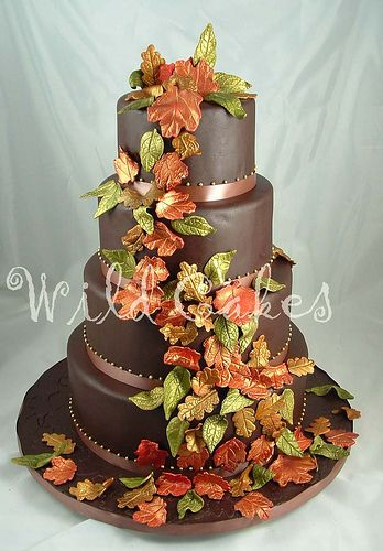 I know its different but a neat idea: Fall Wedding Cakes, Fall Leaves, Cakes Ideas, Chocolates Wedding Cakes, Chocolates Cakes, Autumn Leaves, Fall Cakes, Autumn Wedding, Autumn Cakes