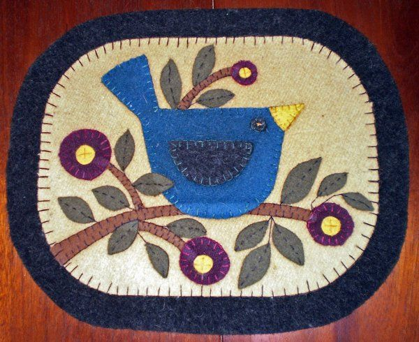 365 Best Penny Rugs Images On Pinterest Penny Rugs Wool