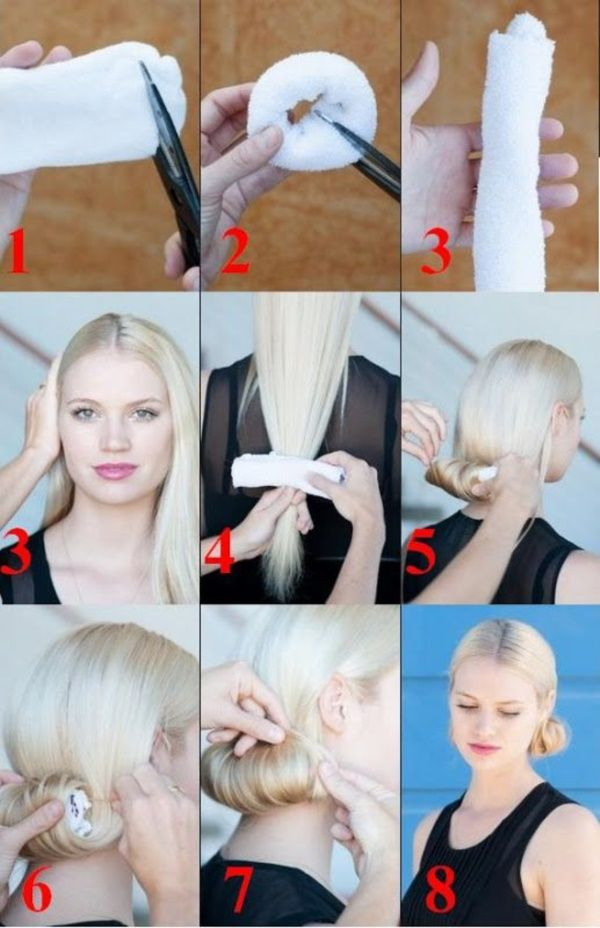 How to Make a Sock Bun: 18 Step by Step Tutorials
