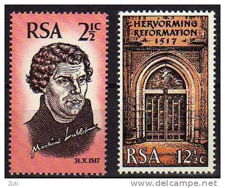 South Africa 1967 Martin Luther stamp set