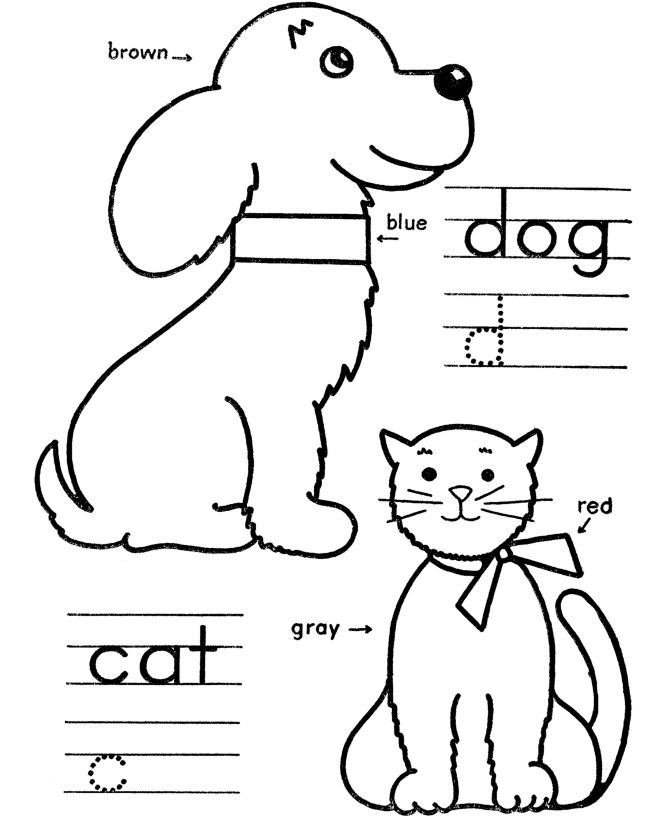 Free Coloring Pages Of Dogs And Cats : 62 best coloring pages images on pinterest