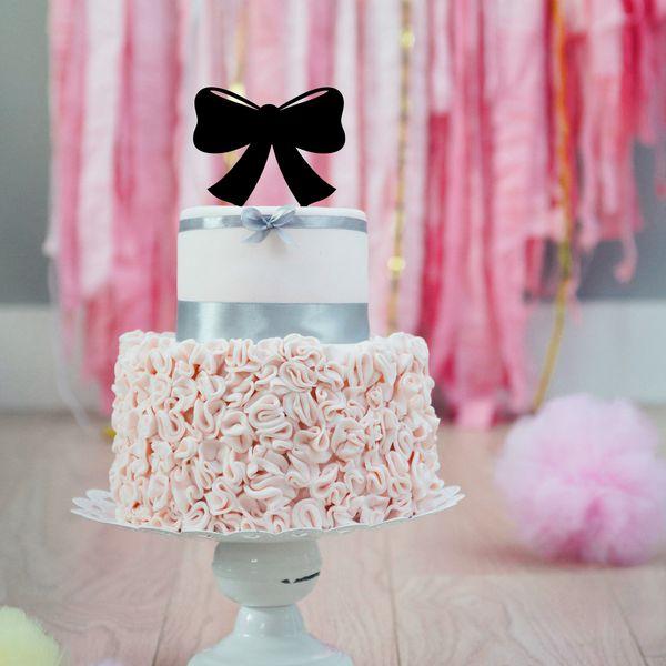 Bow Silhouette Acrylic Cake Topper. Adornos Para Tarta De Baby ShowerTortas  ...
