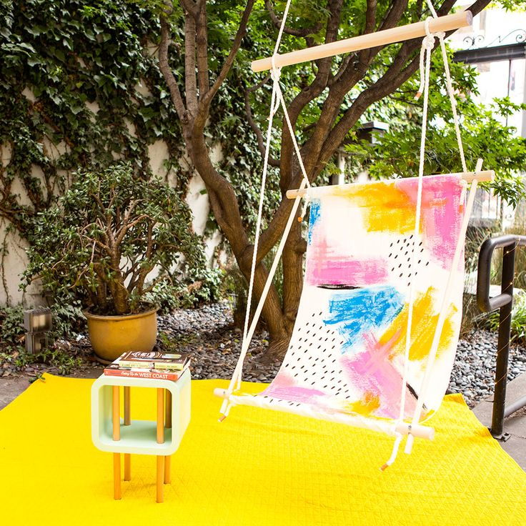You won't believe how easy it is to DIY this hammock chair.