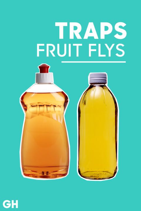 Add three drops of dish soap to a bowl of vinegar to attractthose annoying flies in your home that are impossible to get rid of. The detergent will cut surface tension, so the flies will sink and drown. Just toss the cup once your home is fruit fly-free.
