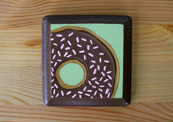 Raspberry Chocolate Donut  Donut Art  Donut by OhDeerIllustrations