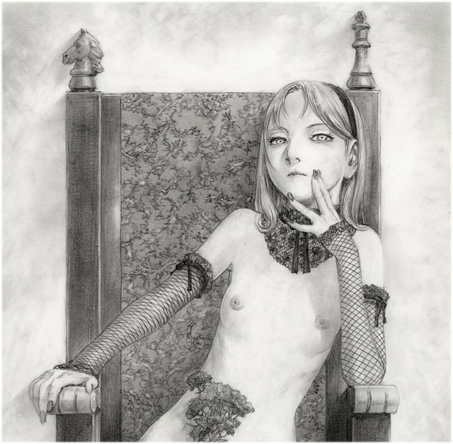 沙村広明が「『蹂躙史エピトマイザ』―ある幻想の娼館―」のために描いたイラスト。