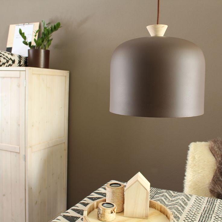 Bruine eettafel lamp Jits Ø27 cm - Landelijke lampen