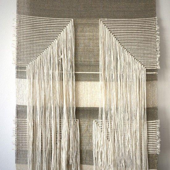 natif ligne tentures murales en naturel et l 39 or tissu pinterest tenture murale tentures. Black Bedroom Furniture Sets. Home Design Ideas
