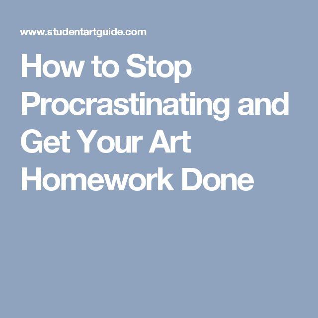 Homework procrastination help