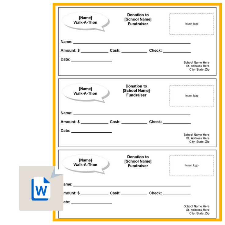 50 best PTA  - donation pledge form template