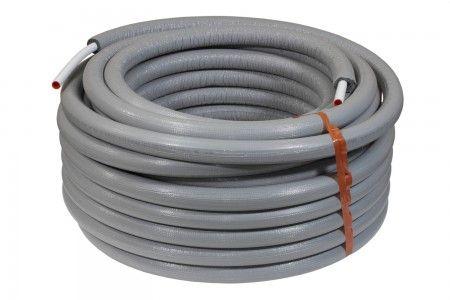 Alu-Verbundrohr 16 x 2 mm mit 13 mm PE-Isolierung, 50 m - Rolle