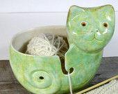 Yarn bowl  Cat  Knitter gift Ready to ship
