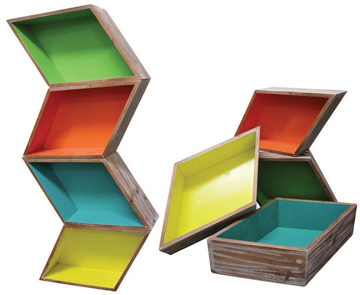 Earth de Fleur Homewares - Trent Shadow Box Set of 4 Display Storage
