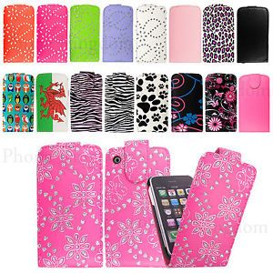 Leather-Flip-Wallet-Case-Cover-For-Apple-Iphone-3-3G-3GS-With-Free-Screen-Guard