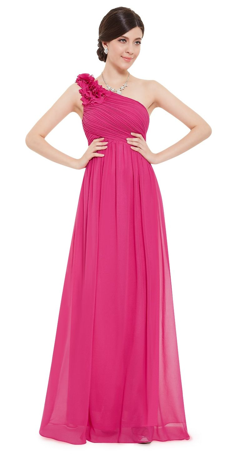 31 best hot pink cerise bridesmaids images on pinterest pippa hot pink fuchsia corsage chiffon bridesmaid prom dress eloises secret ombrellifo Gallery