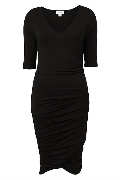 Twist Jersey Dress