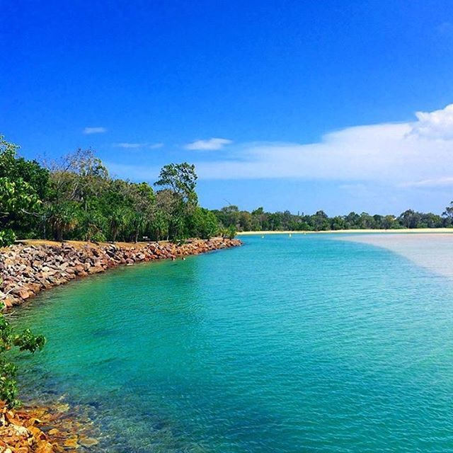 Fancy a dip? This pic was snapped from the Noosa Spit, looking back towards the Noosa Doggy Beach. A popular spot for locals to cool down, this area is a only short drive from the bustling hub of Hastings St.