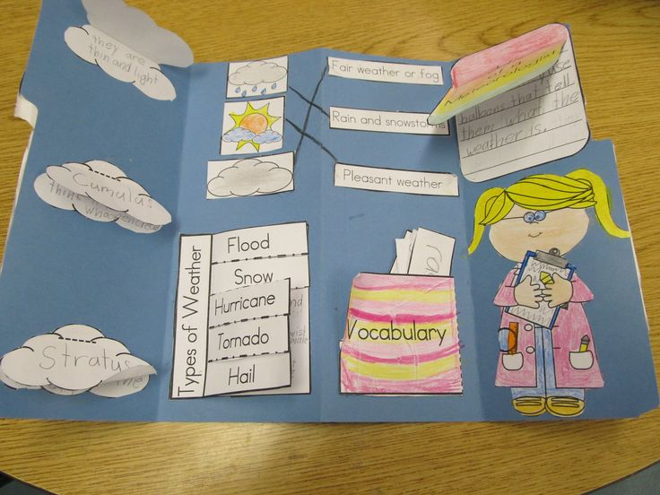 Weather! This lapbook is a great addition to any Weather Unit. This packet includes 20 pages. I have included photos and directions of how to make the lapbook. The lapbook includes a cover, three types of clouds, jobs of a meteorologist, vocabulary, matching activity, and types of weather.