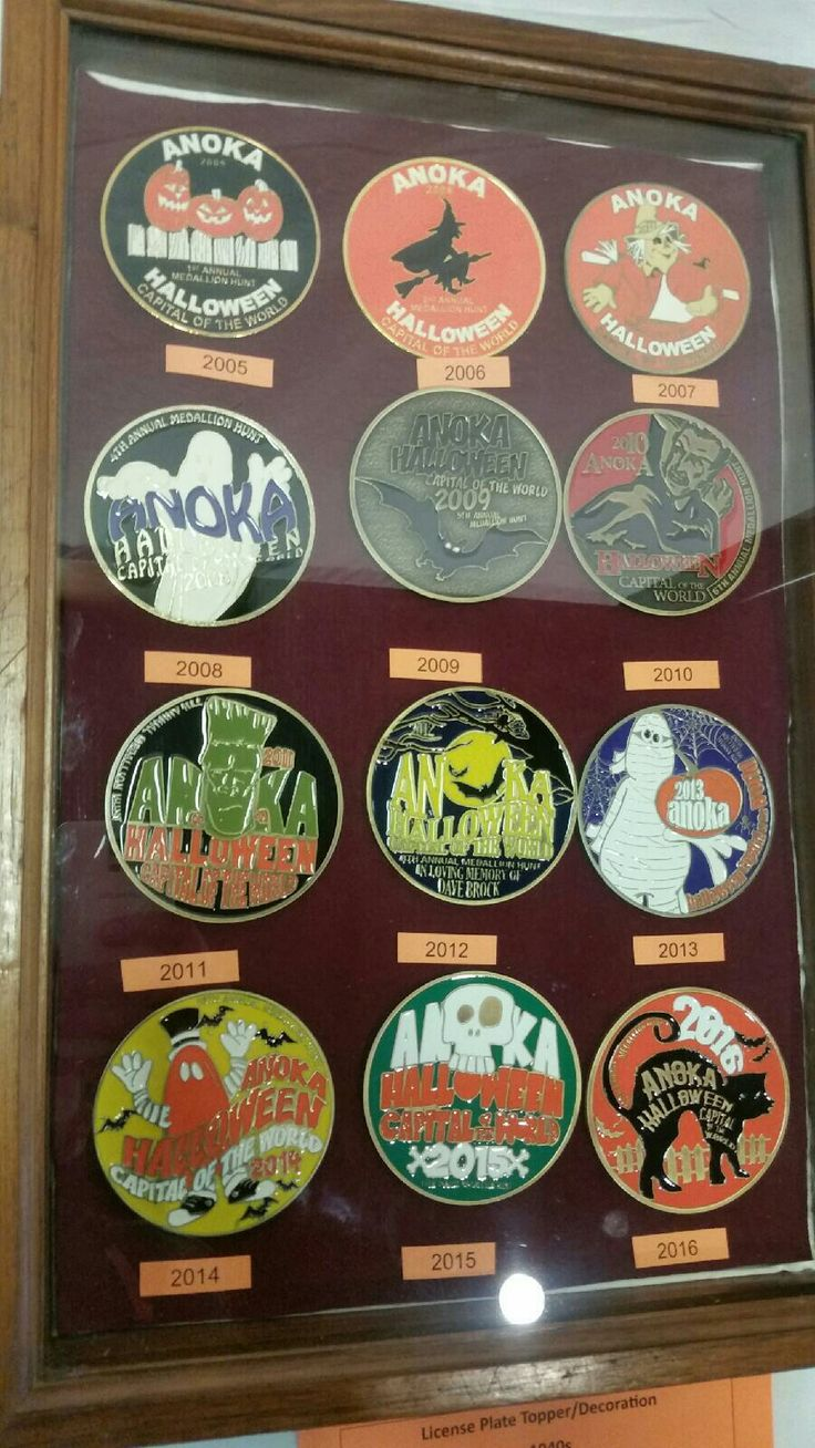 Anoka Halloween capital of the world medallions (With