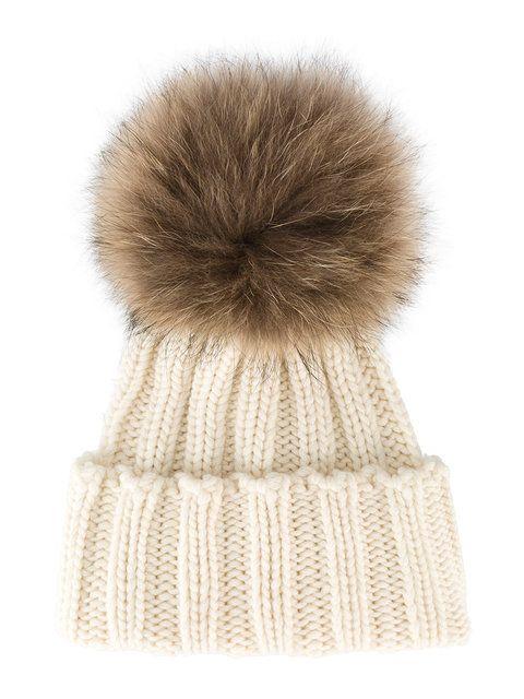 Shop Inverni racoon fur bobble hat.  14703928545