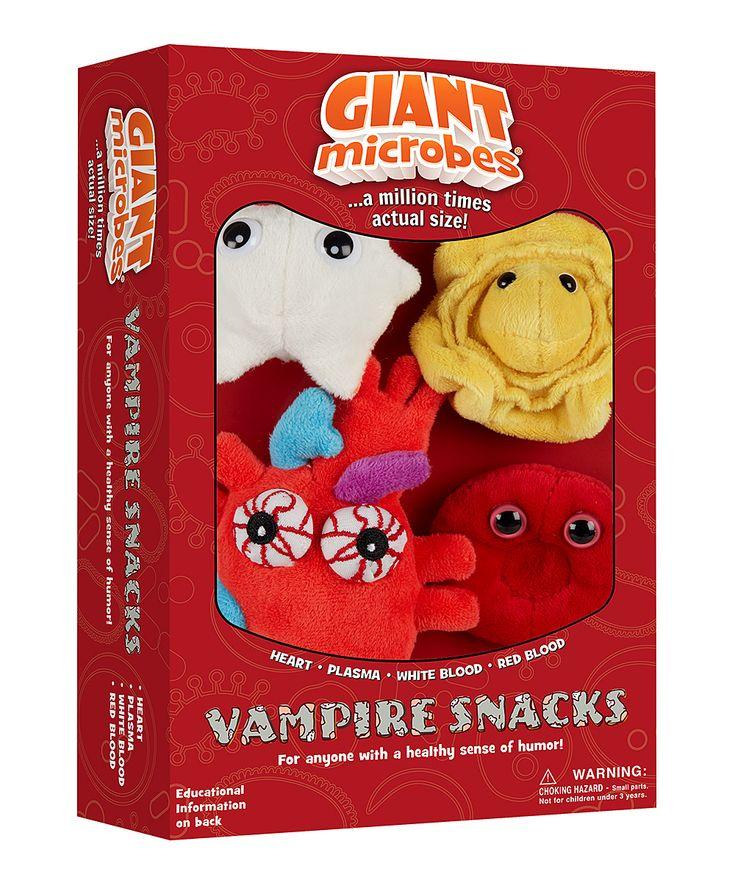 Vampire Snacks Microbe Plush Toy Box