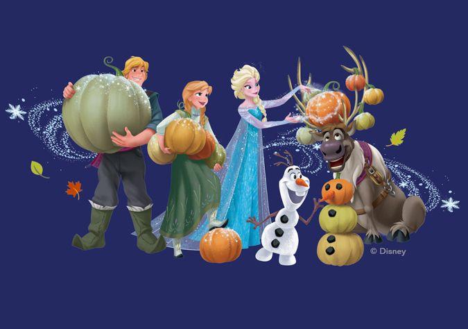 Картинки - открытки с принцессами Дисней на Хэллоуин ...